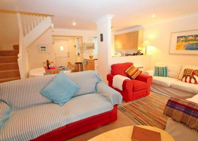 The living area at Spring Tide, Pendra Loweth, Falmouth