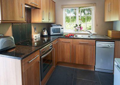 The kitchen at Spring Water Barn, Bonython Estate, Cross Lanes