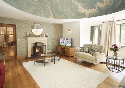 The living area at St Petroc, Charles