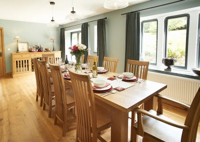The dining area at St Petroc, Charles