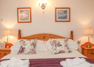 The bedroom at Stable Cottage, Colyton