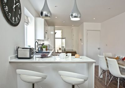 The kitchen at Sunnymead Penthouse, Exmouth