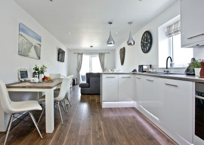 The kitchen & dining area at Sunnymead Penthouse, Exmouth