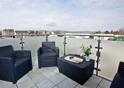The balcony at Sunnymead Penthouse, Exmouth