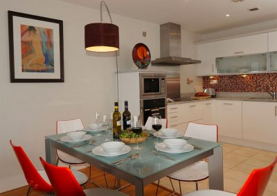 The open-plan dining area at Sunrise, Nassau Court, Westward Ho!