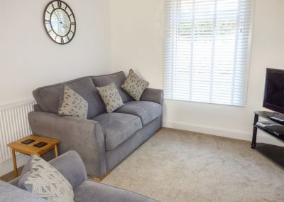 The living area at Sunvale, Teignmouth