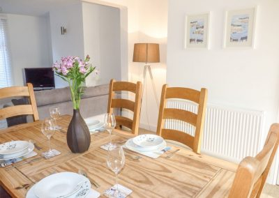 The dining area at Sunvale, Teignmouth