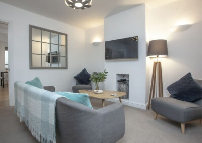 The living area at Swan Cottage, Dawlish