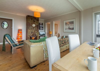 The living area at Tamarisk, Polzeath