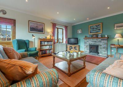 The living area at Tamarisk, Roserrow, Polzeath