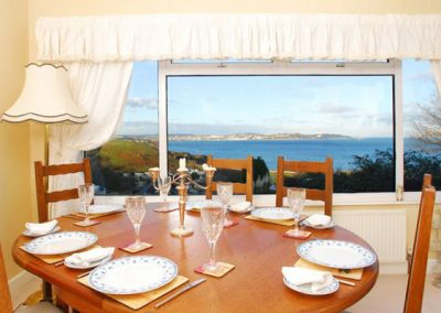 The dining area @ Tanna Nivas, Paignton