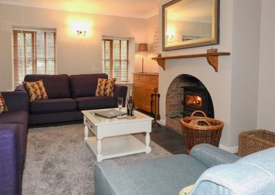 The living area at Tarragon Cottage, Nethway Farm, Boohay