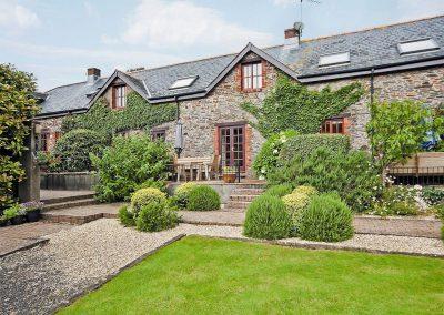 Outside Tarragon Cottage, Nethway Farm, Boohay