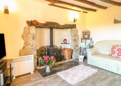The living area at Tea Cosy Cottage, Marhamchurch