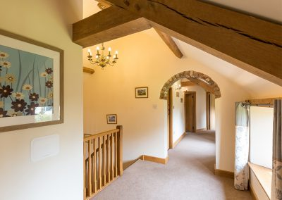 The first floor landing at The Abandoned Cottage, Prixford