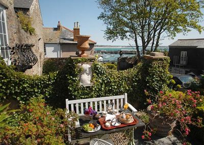 The outdoor patio at The Abbey, Penzance