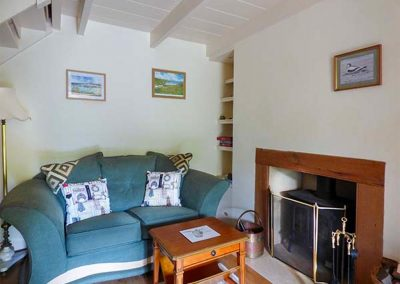 The living area at The Ark Cottage, St Blazey