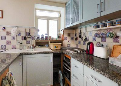 The kitchen at The Ark Cottage, St Blazey