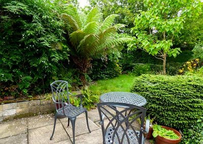 The outdoor patio & garden at The Ark Cottage, St Blazey