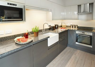 The kitchen at The Artist's Studio, Widworthy