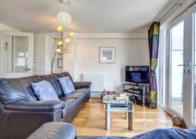 The living area at The Bay, Bigbury-on-Sea