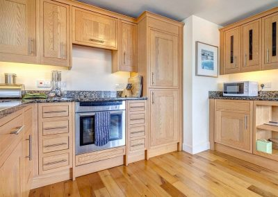 The open-plan kitchen at The Bay, Bigbury-on-Sea