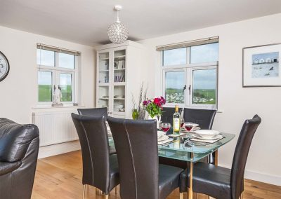 The open-plan dining area at The Bay, Bigbury-on-Sea