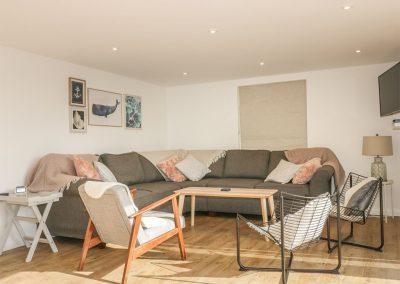 The living area at The Beach Halt, Perranporth