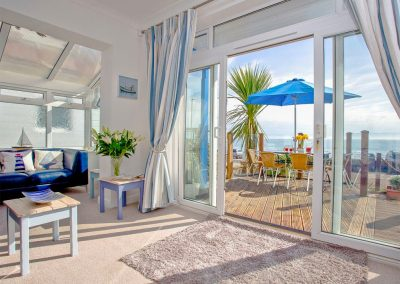 The spacious living area at The Beach House