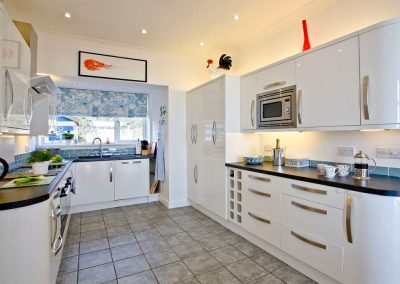 The well equipped kitchen at The Beach House
