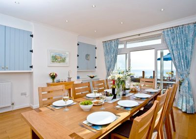 The dining area at The Beach House