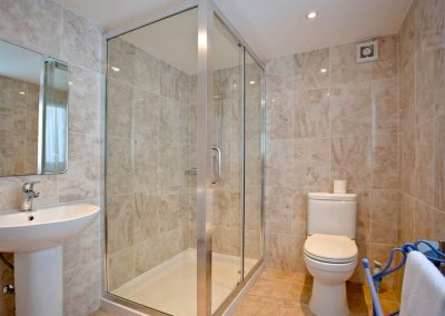 The shower room at The Beach House, Paignton