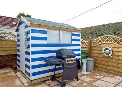 The rear enclosed patio at The Beach House, Paignton