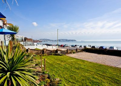 The front garden at The Beach House, Paignton