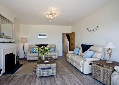 The living area @ The Beach Retreat, Paignton