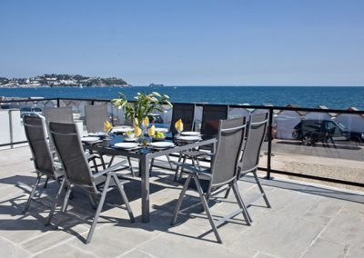 Stunning views from the terrace @ The Beach Retreat, Paignton