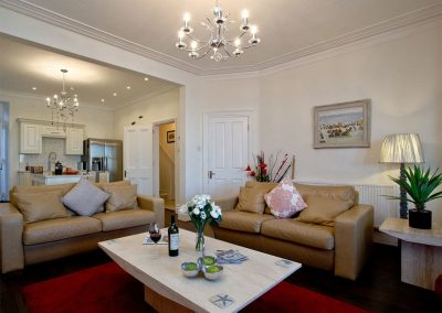 The living area at The Beacon at Harbour Lights, Brixham