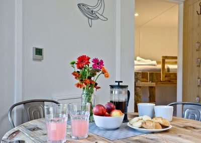 The open-plan dining area at The Boat House Roundhouse, East Thorne, Kilkhampton