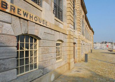 Outside The Brewhouse, Royal William Yard, Plymouth