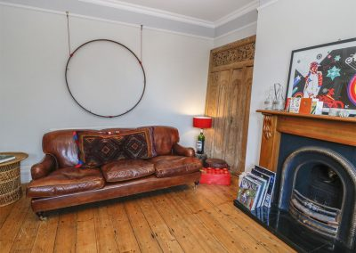 The living area at The Cinqtuary, Bideford