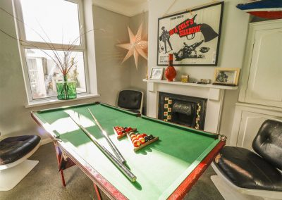 The games room at The Cinqtuary, Bideford