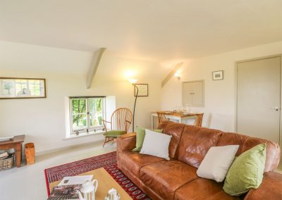 The living area at The Coach House, Gidleigh