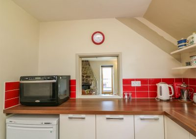 The kitchen at The Coach House, Gidleigh
