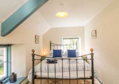 The bedroom at The Coach House, Gidleigh