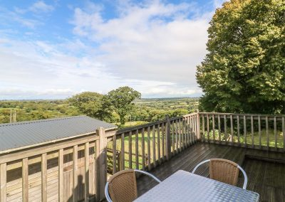 The decked patio at The Coach House, Gidleigh