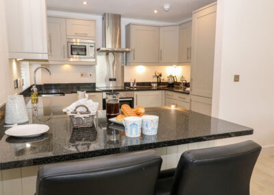 The kitchen at The Creekside, Looe