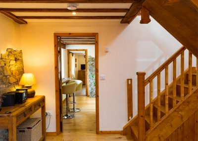 The hallway & stairs at The Croft, Holsworthy