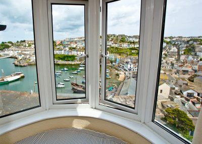 The view from bedroom #1 at The Crows Nest, Brixham
