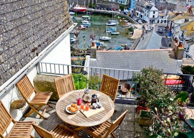 The balcony at The Crows Nest, Brixham
