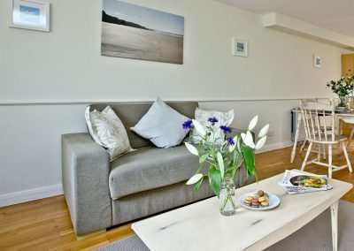 The living area at The Cwtch Cottage, East Thorne, Kilkhampton